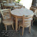 Meja Kursi Cafe Jati Bundar FJ-0003