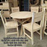 Set Kursi Cafe Jati Simpel Meja Bundar FJ-0004