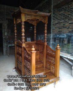 Harga Mimbar Masjid Ukiran Kayu Jati