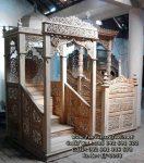 Mimbar Masjid Kaligrafi Tangga Jepara