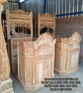 Mimbar Podium Masjid Minimalis Jati