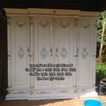 Almari Pakaian 4 Pintu Model Pilar Kayu Jati
