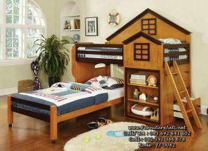 Tempat Tidur Anak Tingkat Model Rumah