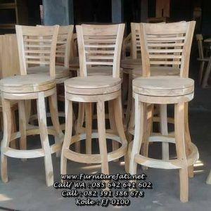 Kursi Cafe Bar Jati Model Putar