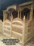 Mimbar Masjid Ukiran Kaligrafi Kayu Jati