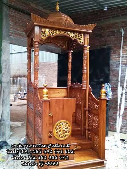 Mimbar Masjid Ukiran Podium Minimalis