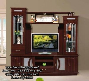 Model Bufet TV Jepara Kayu Jati Minimalis