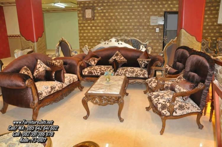 Set Kursi Tamu Sofa Ukiran Jepara