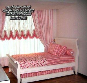 Tempat Tidur Anak Perempuan Sorong Minimalis