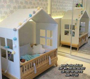 Tempat Tidur Bayi Model Rumah Unik