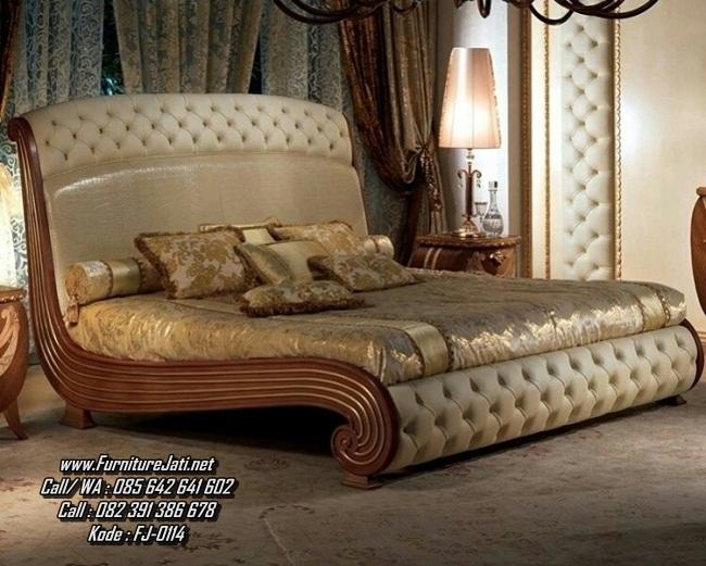 Tempat Tidur Mewah Klasik Kayu Jati