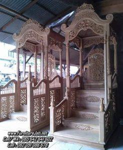 Mimbar Masjid Ukiran Jepara Jati