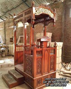 Mimbar Masjid Ukiran Minimalis Jepara
