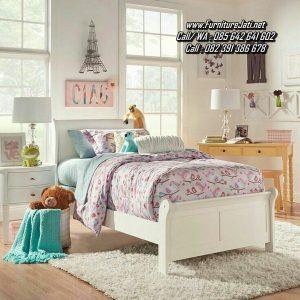 Tempat Tidur Anak Kayu Putih Duco