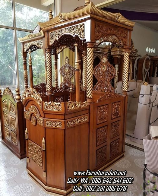 Jual Mimbar Masjid Jepara Kayu Jati