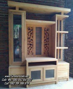 Bufet TV Partisi Minimalis Ruang kayu Jati