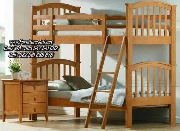 Tempat Tidur Anak Tingkat Kayu Minimalis