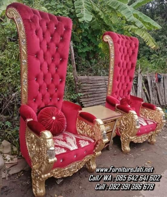 Kursi Sofa Ukir Klasik Mewah Warna Emas