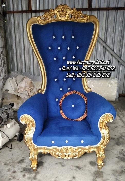 Kursi Sofa Ukiran Raja Warna Emas Mewah