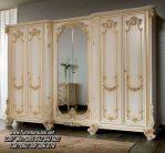 Lemari Pakaian Ukir Klasik Mewah Kayu 6 Pintu