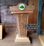Podium Pidato Minimalis Ukir Jepara