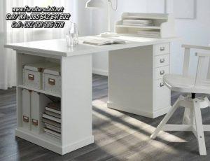 Meja Kerja Minimalis Ruang Rumah Putih