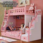 Tempat Tidur Tingkat Anak Perempuan Warna Pink
